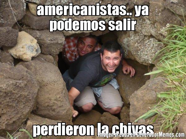 americanistas.. ya podemos salir perdieron la chivas - cueva