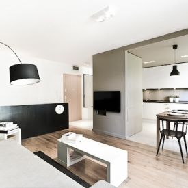 Apartment in Wroclaw is a minimalist house located in Wroclaw, Poland created by 3XA.