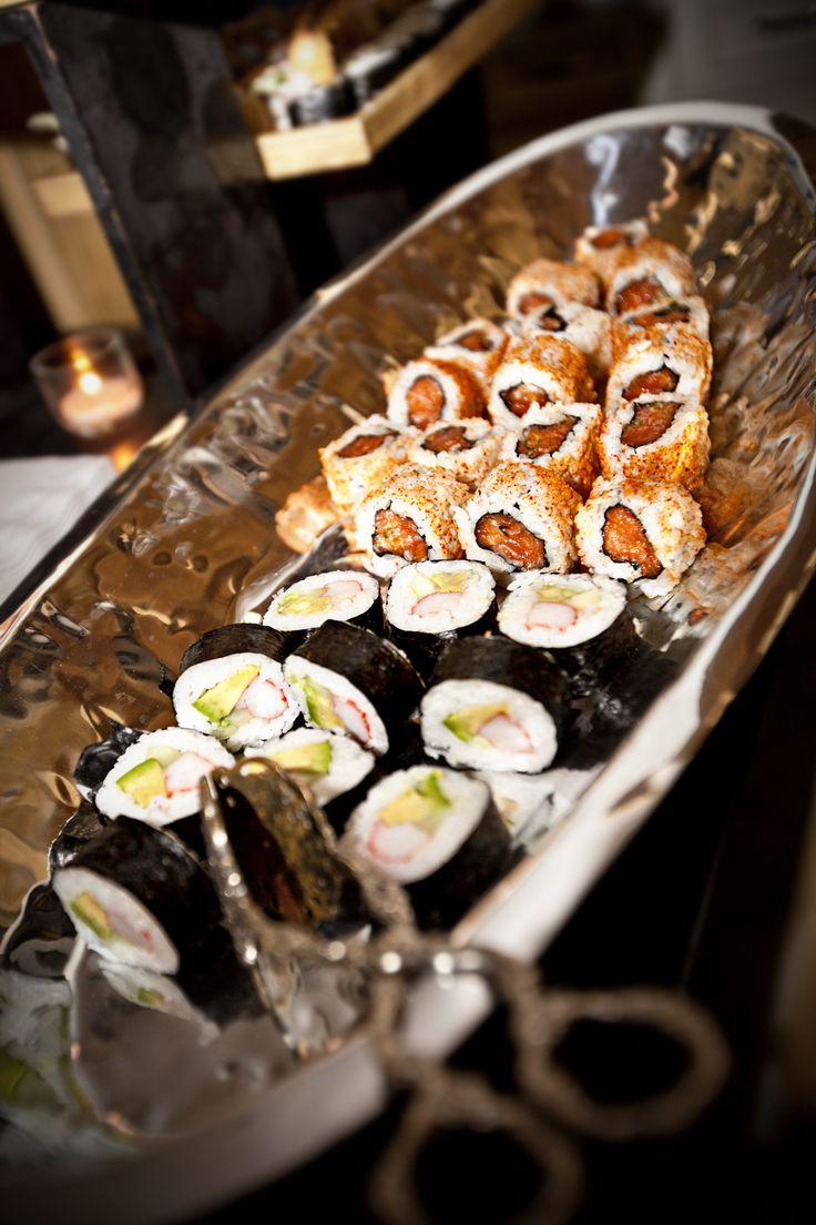 Sushi buffet, sushi display, wedding dinner, corporate sushi dinner, wedding sushi dinner, Houston event, Houston dinner party, Houston wedding, Houston catering