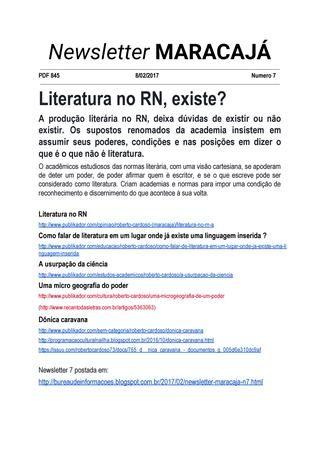 845 newsletter maracajá 7 documentos google