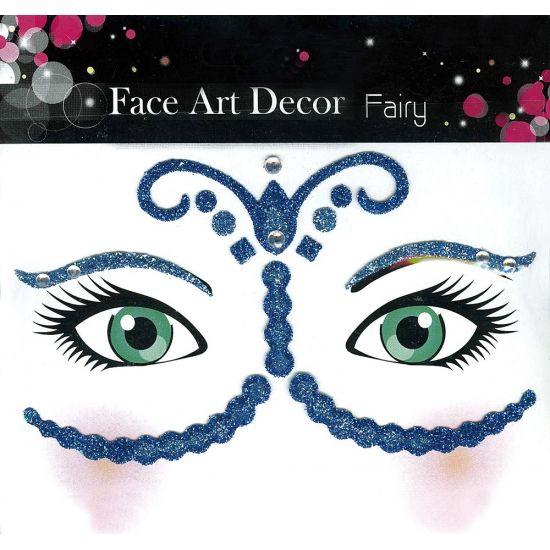 Glitter schmink sticker fee. Glitter sticker om heel gemakkelijk sierlijk patroon rond de ogen en op het gezicht te maken. Geschikt voor volwassenen.
