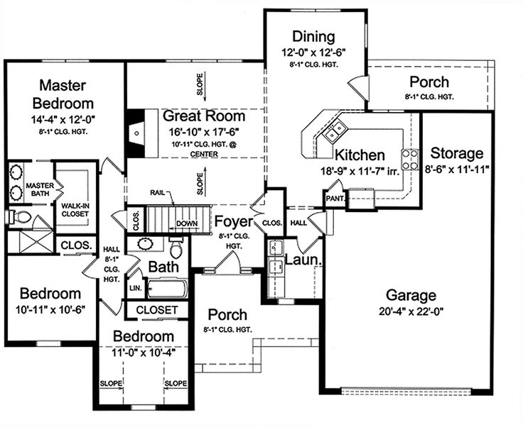 Country House Plan 98638 Level One 1597 Sq Ft