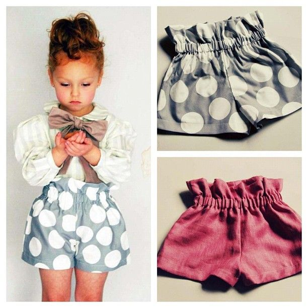 Adorable shorts & easy to make! I want those Polka dot ones