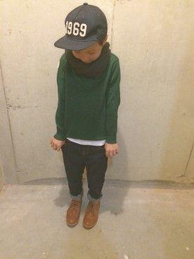tokyonhさんの「【KIDS】STDK プリントポケット/Tシャツ(green label relaxing グリーンレーベルリラクシング)」を使ったコーディネート