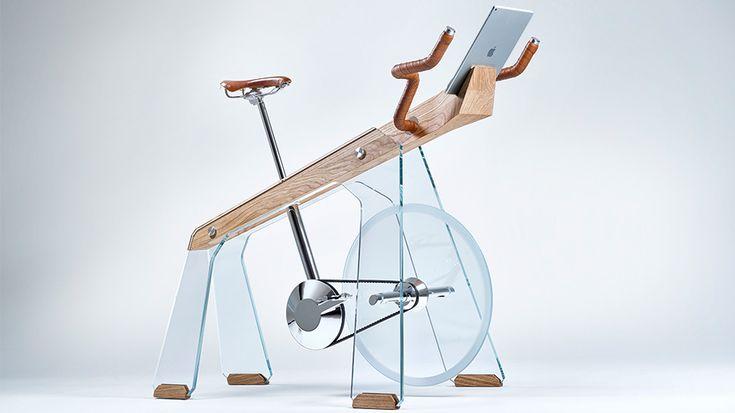 Designstudio maakt hometrainer van glas en hout | Bright.nl