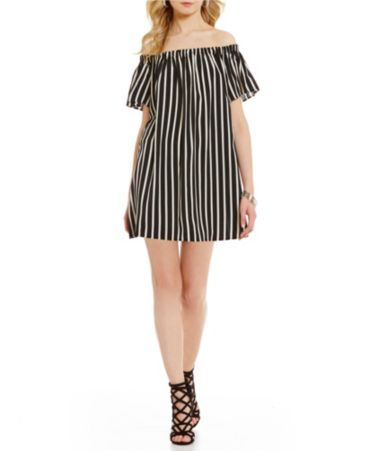 Shop for French Connection Polly Plains Off-the-Shoulder Stripe Dress at Dillards.com. Visit Dillards.com to find clothing, accessories, shoes, cosmetics & more. The Style of Your Life.