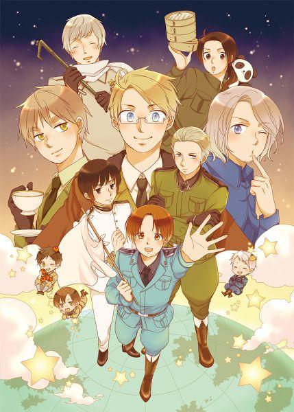 Hetalia ~ Italy, Germany, Japan, England, America, France, Russia, China, Spain, Romano and Prussia