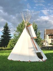 Indian Tipi Hand Crafted By Canvashome
