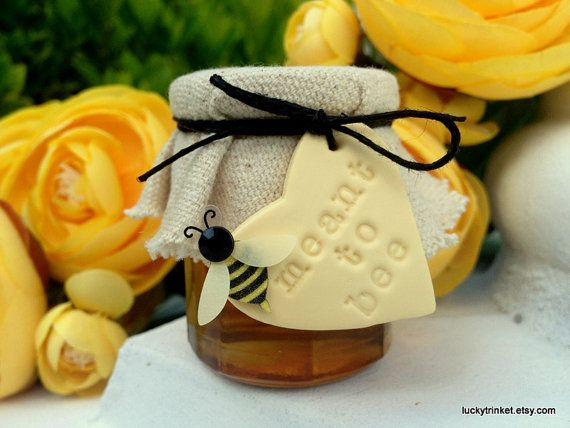 Meant To Bee Honey Jars Wedding Favors by LuckyTrinket on Etsy, $3.79
