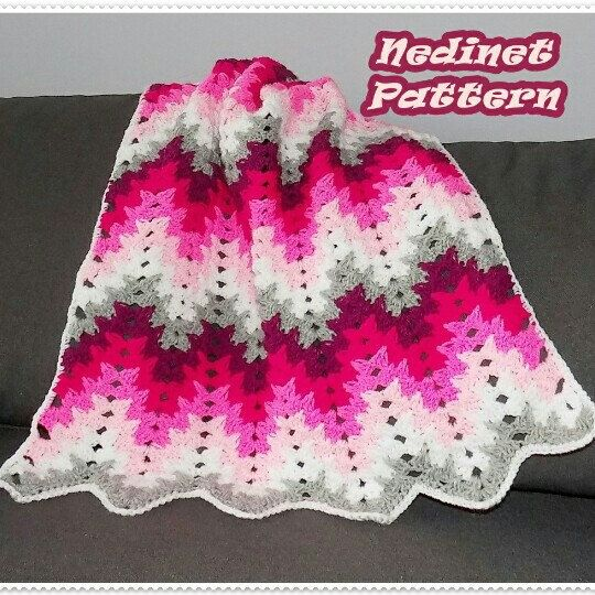 Crochet blanket pattern.