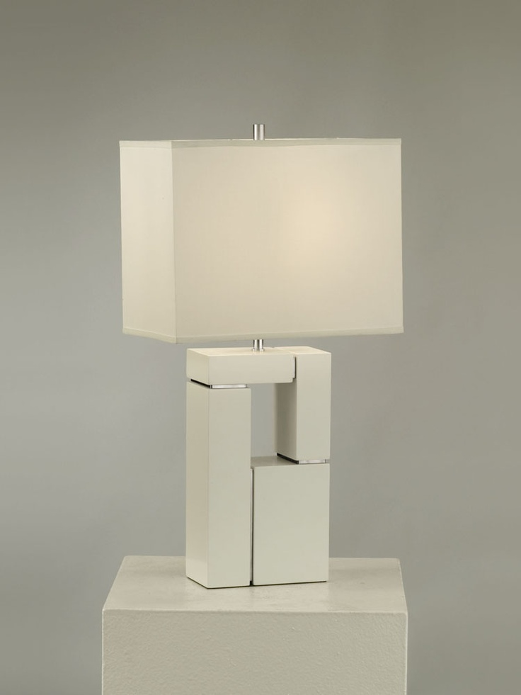 NOVA Lighting Segments Table Lamp, White