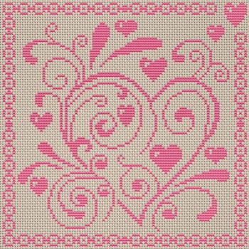 """carried away"" cross stitch pattern"