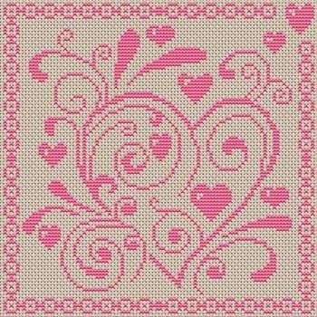 """carried away"" cross stitch pattern"