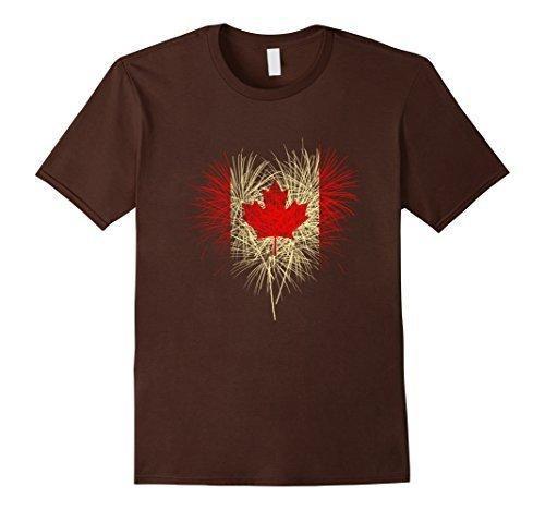 Men's Happy Canada Day Shirt XL Brown