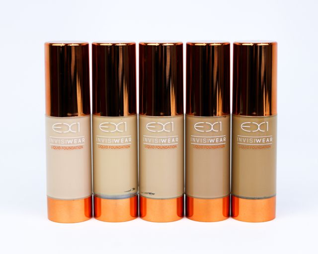"EX1 Invisiwear Liquid Foundation (Left To Right) in ""F100, F200, F300, F400, F500"" ($16 Each)"
