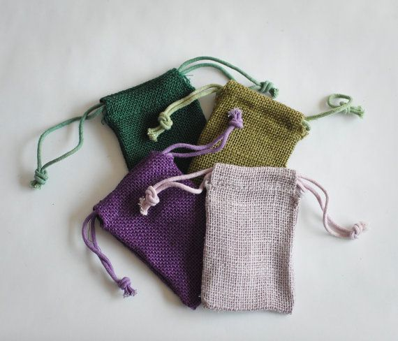 24 Burlap Bags 3x5 Jute Forest Green Natural by BeautifulAdditions