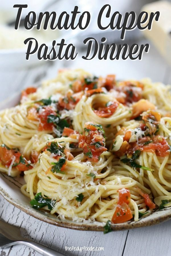 Tomato Caper Pasta This Dish Is Amazing And I Love Making It My