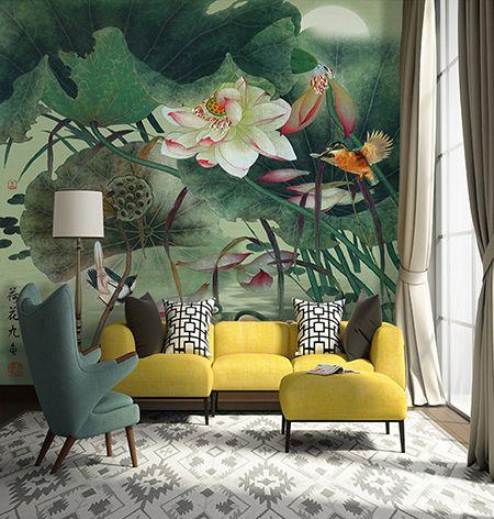 les 25 meilleures id es de la cat gorie papier peints chinois sur pinterest papier peint. Black Bedroom Furniture Sets. Home Design Ideas