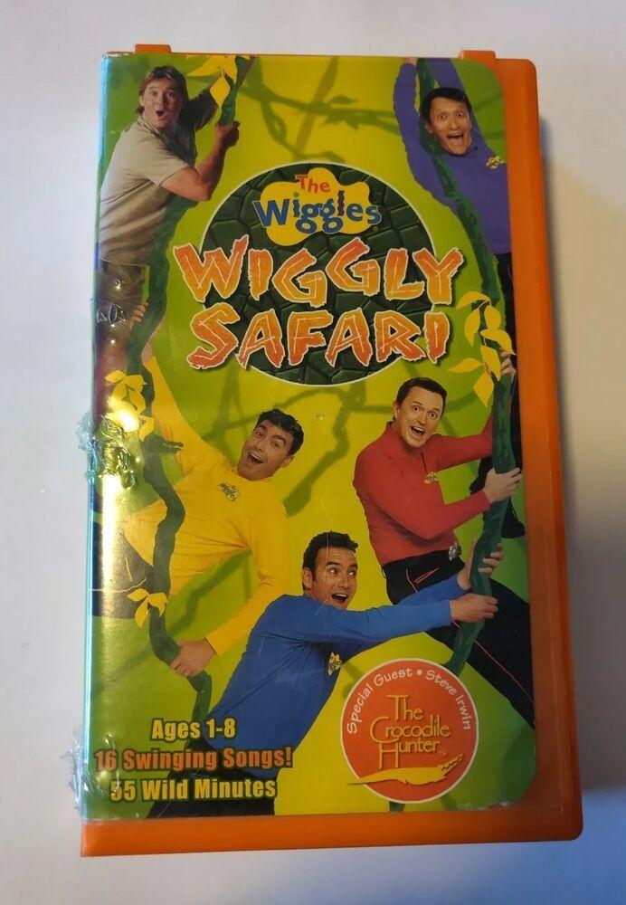 The Wiggles - Wiggly Safari (VHS, 2002) Steve Irwin The