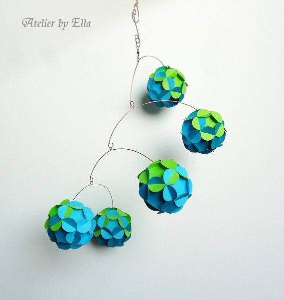Summer hanging mobile  Home Decoration by AtelierByElla on Etsy, $45.00