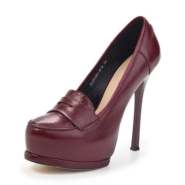 Бордовые туфли шпилька стиль