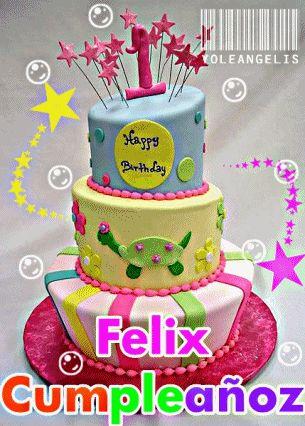 Saludo de cumpleaños con pastel. | MandarSaludos.com