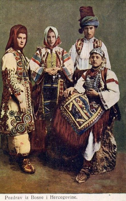 Bosnians in traditional clothes, the turn of the 19th century. http://wiki.royalfamily.ba/wiki/Bosnia
