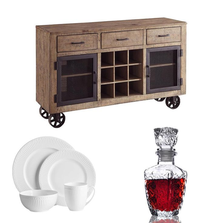 Classic wood is so versatile. Whether it be in a French country kitchen or a more industrial space, this cabinet will be a conversation piece for years to come... http://inspireathome.com/accent-furniture/console-tables-cabinets.html