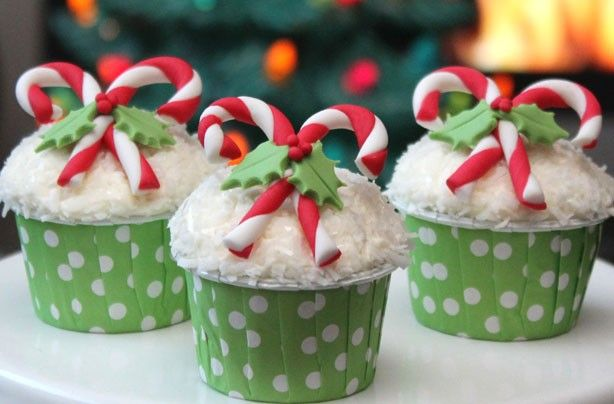 Candy cane cupcakes - 23 Pinterest-worthy Christmas bakes you really must pin (and make!) this Christmas