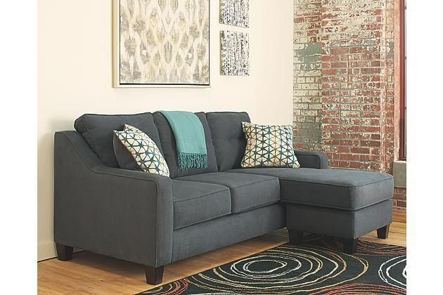 "Dark Gray Shayla Sofa Chaise $640 80""x60"" moveable chaise - very attractive but not great quality"