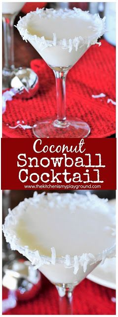 Coconut Snowball Cocktail