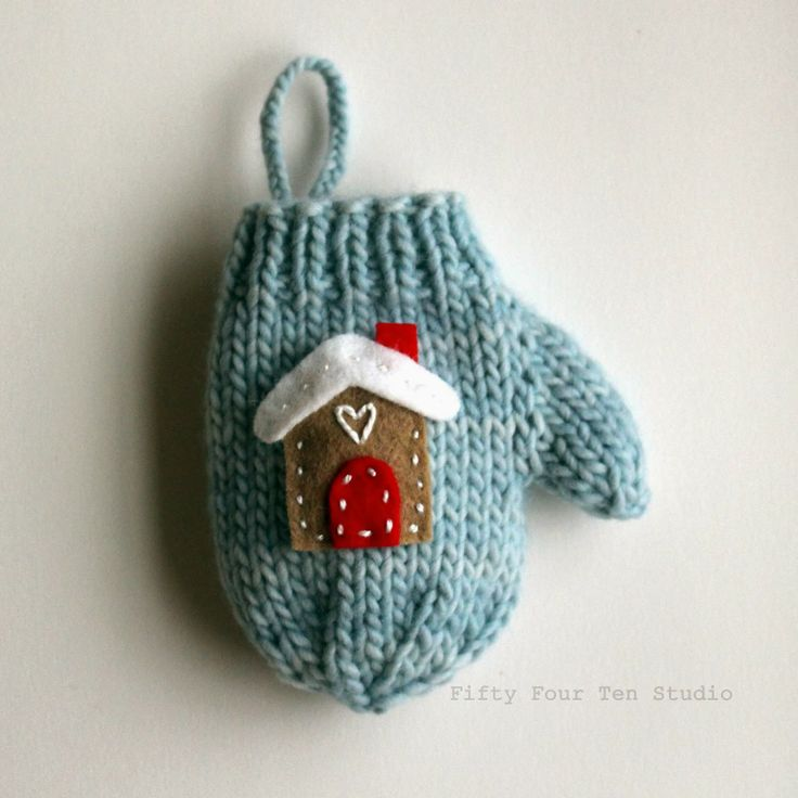 Fifty Four Ten Studio: Knitting pattern for mini mitten Christmas ornament wi...