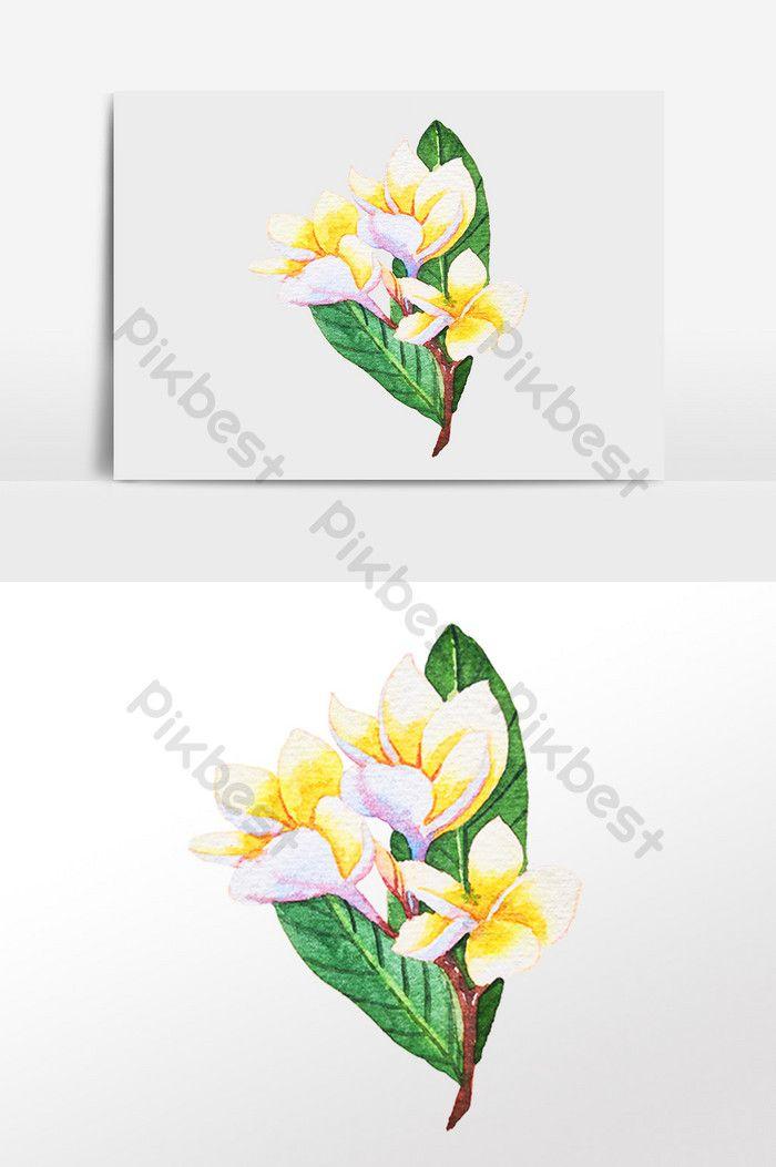 Hand Drawn Botanical Yellow Flowers And Plants Illustration