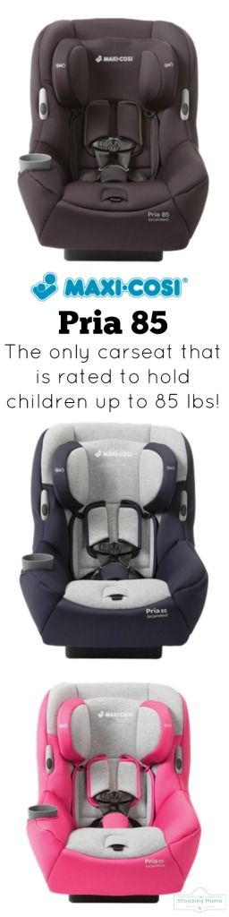 Maxi-Cosi Pria 85 Convertible Car Seat {Review} | the only car seat that is rated to hold children up to 85 pounds