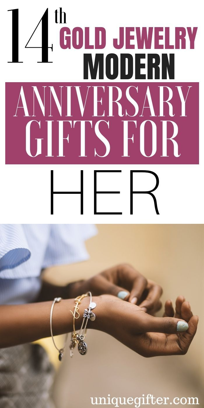 20 14th Gold Jewelry Modern Anniversary Gifts For Her Birthday