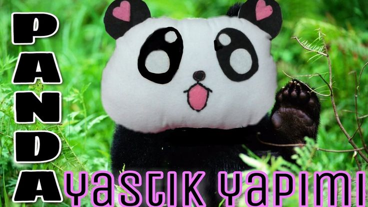 PANDA YASTIK NASIL YAPILIR? *DİY, easy panda pillow