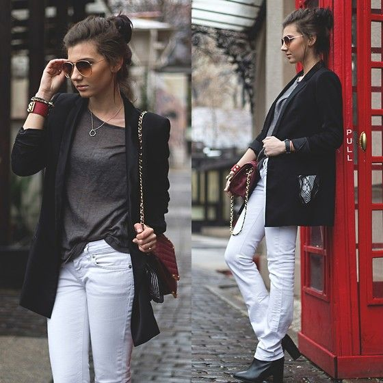How to wear white pants in winter.