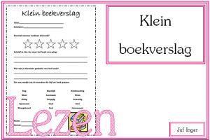 klein boekverslag - juf Inger