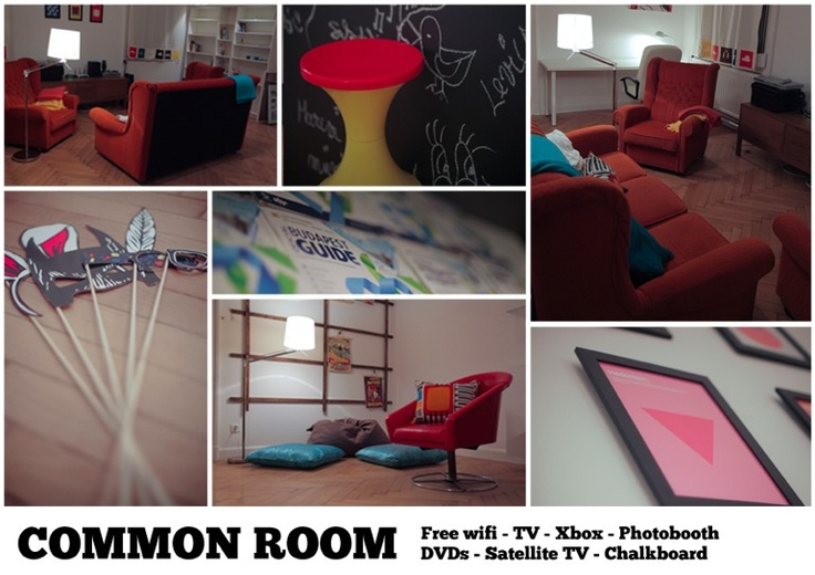 Hispter Hotel Budapest common_room