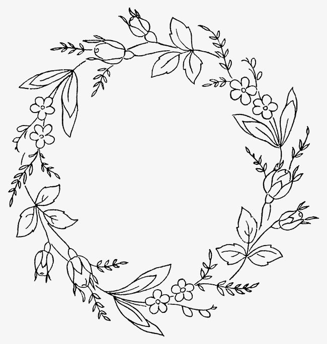 Hand Painted Simple Wreaths Hand Embroidery Stitches