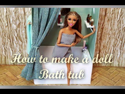 How to make a doll tub – YouTube