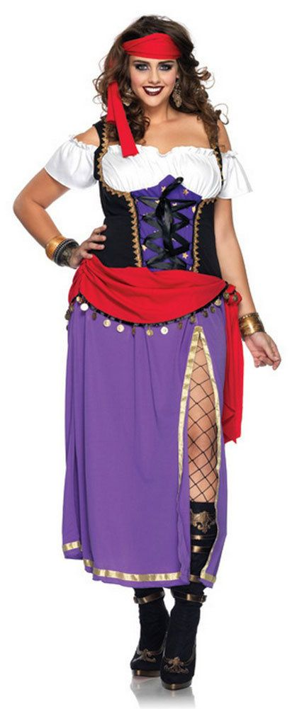 Womens Traveling Gypsy Renaissance Plus Size Costume Plus Size Renaissance Costumes - Mr. Costumes