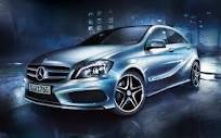 Mercedes New A Class. Over-sculpted, ludicrously aggressive, grossly fat small car intended to appeal to 'Yoof'. The new school of Fugly.