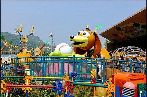 Toy Story Playland (Walt Disney Studios Park in Paris, Hong Kong Disneyland, and Shanghai Disneyland in 2015)