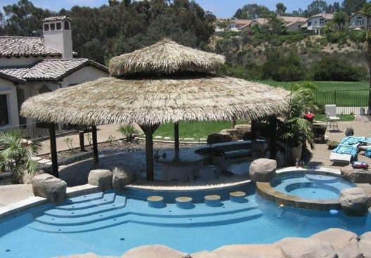 Large Round Palapa  Swimming Pool  Palapa Kings  Oceanside, CA