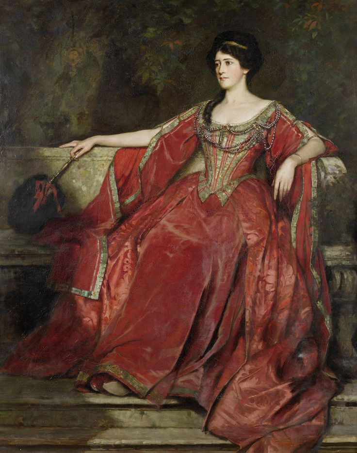 Portrait of Alice Crawford in the role of Olivia, Twelfth Night    William Logsdail    1907