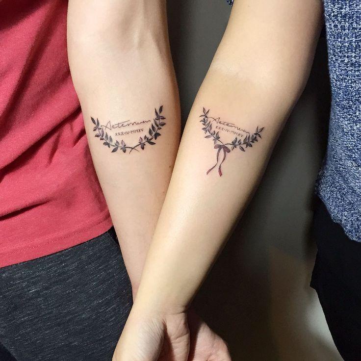 Laurel Tattoo #laurel #couple #tattoo