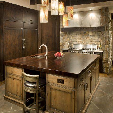 Rustic Kitchen Islands Design Ideas Pictures Remodel