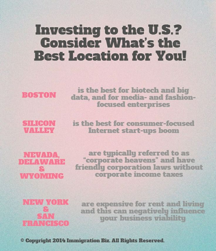 Investing to the U.S.? Consider What's the Best Location for You!