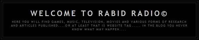 """want to thank each of you for visiting to the Official Rabid Radio© Network. The station operates at my convenience and there are *NO* sub-stations, No other web masters and zero technical support technicians besides myself. I hope that upon this network you will find clean, entertaining and educational items of use. I try very hard to insure that no content exceeds the public standard of """"PG"""" equivalent to the movie theater ratings system."""
